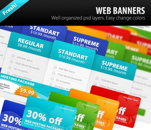 Template Image for Web Banners - 30001