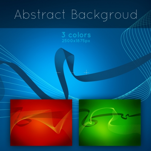 Template Image for 3 Abstract Backgrounds - 30009