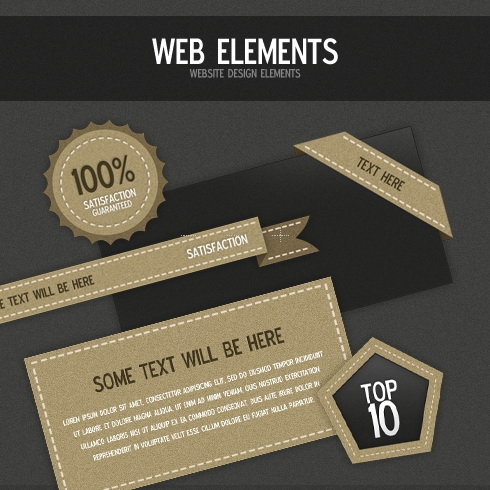 Template Image for Leather Like Design Elements - 30010