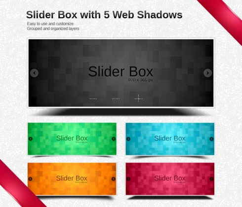 Template Image for Beautiful Slider Box with Shadows - 30068