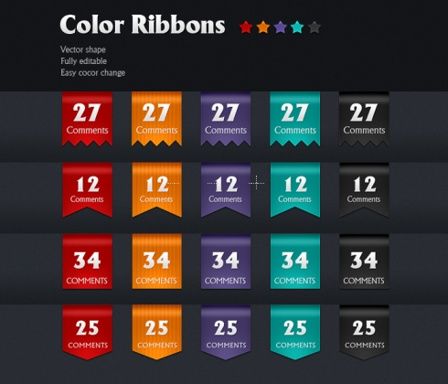 Template Image for Color Ribbons - 30073