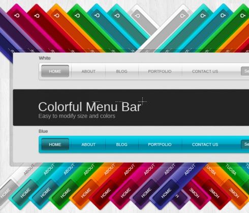 modern menu navigation bar 30077 web graphics graphics