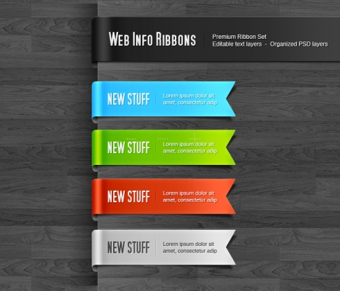 Template Image for Information Ribbons - 30117