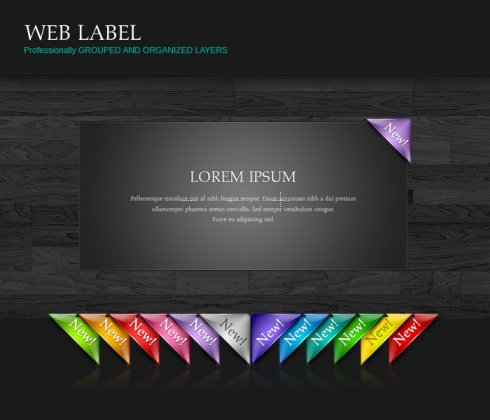 Template Image for Web Corner Labels - 30120