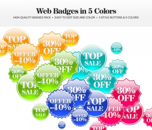 Template Image for Web Badges - 30154