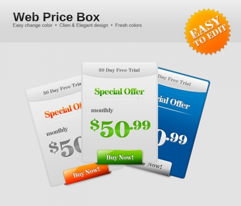 Template Image for Web Pricing Boxes - 30161