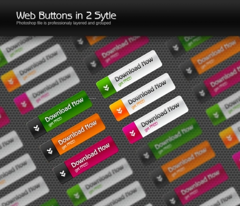 Template Image for Web 2.0 Style Buttons - 30162