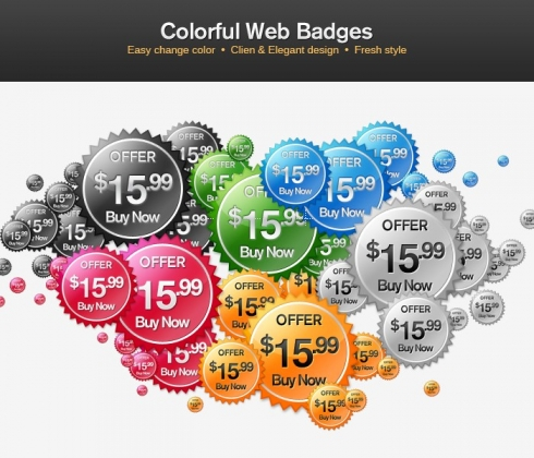 Template Image for Indented Web Badges - 30163