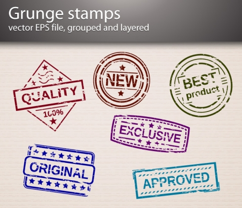 Template Image for Grunge Stamp Vectors - 30168