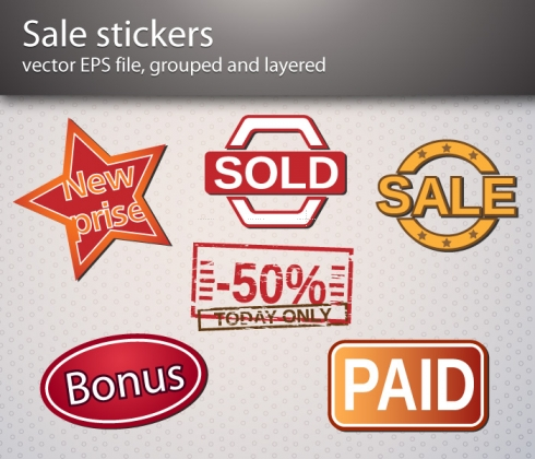 Template Image for Sale Sticker Vectors - 30173