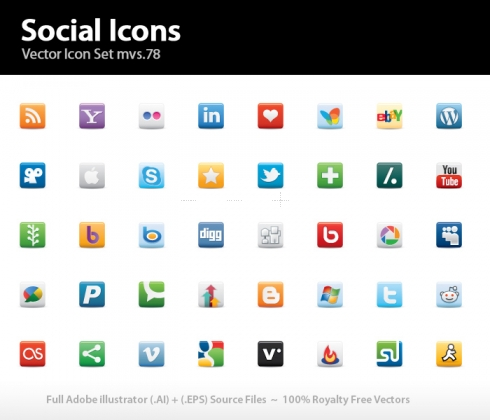Template Image for Social Icons (Twitter, RSS etc) - 30276