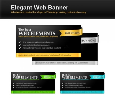 Template Image for Elegant Web Slider Banners - 30290