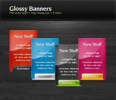 Template Image for Glossy Information Box Banners - 30309