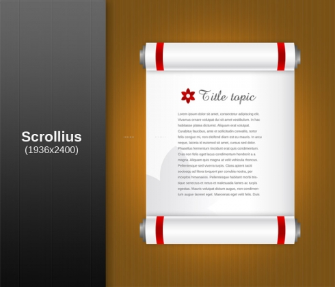 Template Image for Document Scroll Vector - 30478