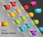 Image for Image for Colored Ribbons Tags - 30004