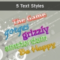 Image for Image for 5 Happy Text Style Actions - 30011