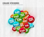 Image for Image for Impact Color Stickers - 30149