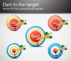 Image for Image for Target & Dart Vectors - 30167