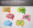 Image for Image for Sketchy Speech Bubble Vector - 30174