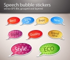 Image for Image for Speech Bubble Stickers Vector - 30175