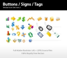 Image for Image for Buttons, Signs & Tags Icon Set - 30199