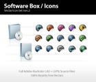 Image for Image for Software Box & Media Icon Set - 30200