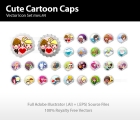 Image for Image for Cute Cartoon Caps Vector - 30242