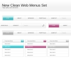 Image for Image for Clean Web Menus Set - 30300