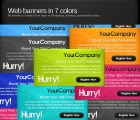Image for Image for Web Banners in 7 Colors - 30323