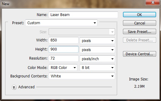 how to create light beam in photoshop