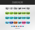 Image for Image for Crystal Social Icons Set - 30148