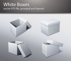 Image for Image for Plain & White Packaging Box Vectors - 30176