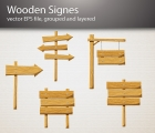Image for Image for Wooden Signs Vector - 30177